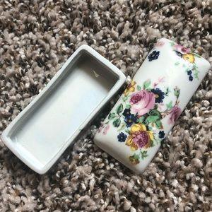 Vintage Storage & Organization - Vintage Floral Porcelain Box